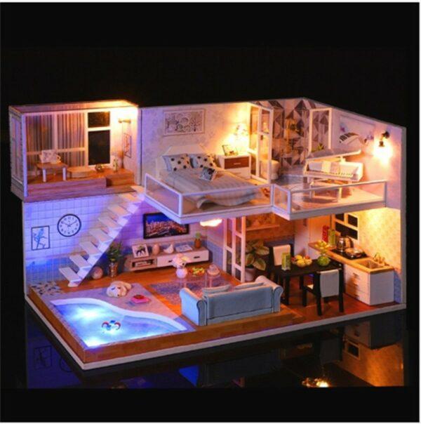 Revos Loft DIY Miniature House Kit house and music24b5182ac5b144da841cf0505c9547c8y