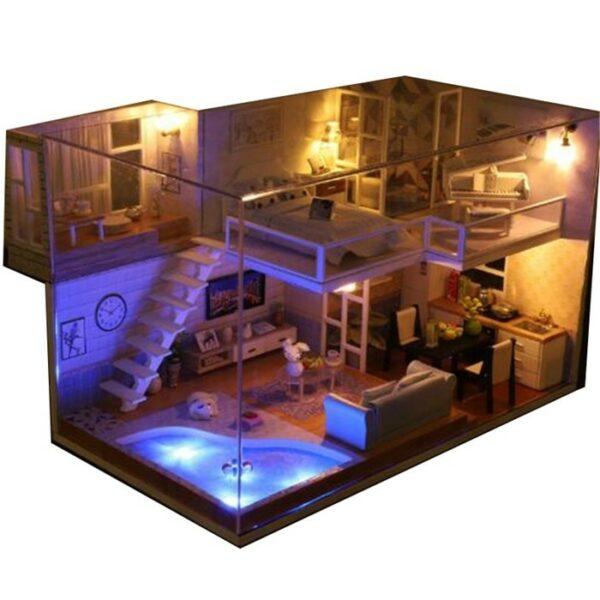Revos Loft DIY Miniature House Kit house and music351d5e96ea8041af880e443303d0ff85B