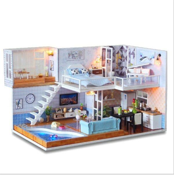 Revos Loft DIY Miniature House Kit house and music4f3aff1d9c8a4f44aed09f77fa51b060A