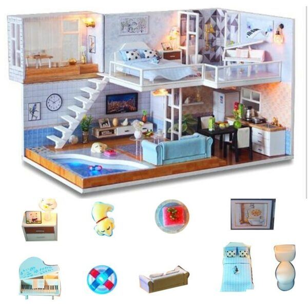 Revos Loft DIY Miniature House Kit house and music4f4decf5cd5940a5827a03cad836f8b91