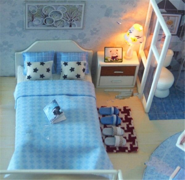Revos Loft DIY Miniature House Kit house and musicd4a18e1540e547abac64fdb7a68312385
