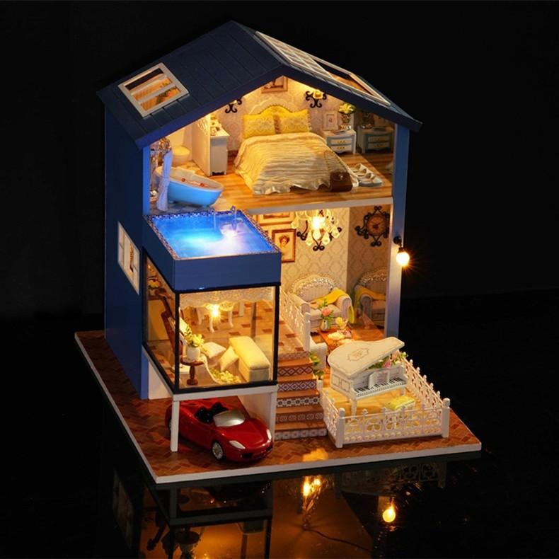 Secret Of Seattle DIY Miniature Dollhouse KitTB1Bt5wieSSBuNjy0Flq6zBpVXa8