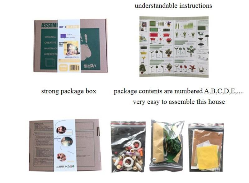September Forest DIY Miniature House Kit Doll house4e34178b7d4949aa8363da9d90c6a6091