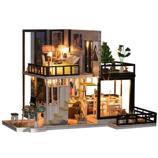 September Forest DIY Miniature House Kit Doll houseTB17mj1XuP2gK0jSZFoq6yuIVXaP