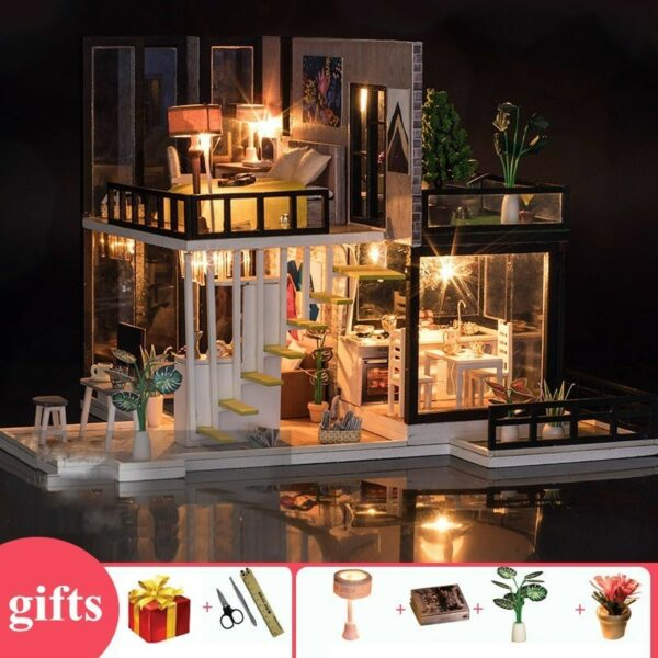 September Forest DIY Miniature House Kit Doll houseTB1fF23Xrj1gK0jSZFOq6A7GpXaA