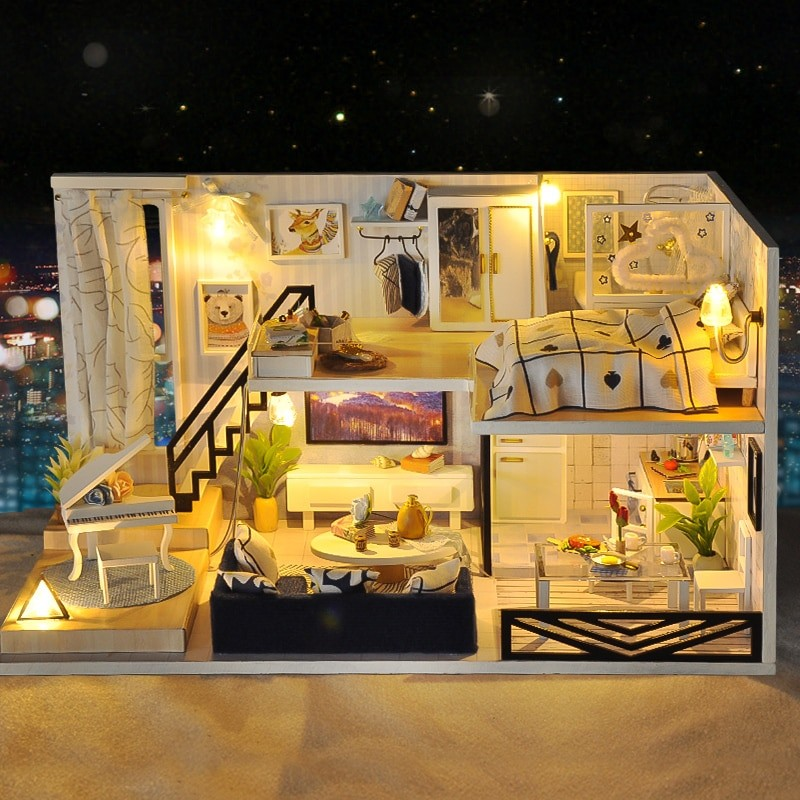 Shadow of Time DIY Miniature Loft KitTB1S6BRiN1YBuNjy1zcq6zNcXXaf