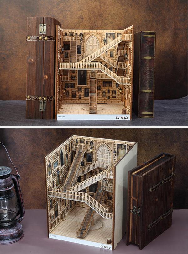 Spiral Stairs Miniature Booknook Spiral staircase59e69f5e96894114aa53c4b3f697f309l 600x809 1