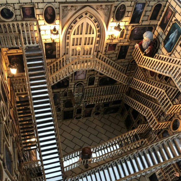Spiral Stairs Miniature Booknook Spiral staircasefbc439ef89f640538d80fb9a599fc8a3x 600x600 1