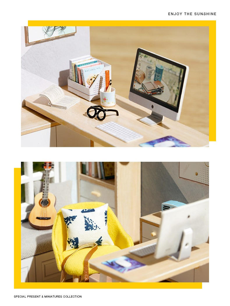 Sunshine Study DIY Miniature Room Kitf135e9e87d5c4234ae150da324d2fbd9O