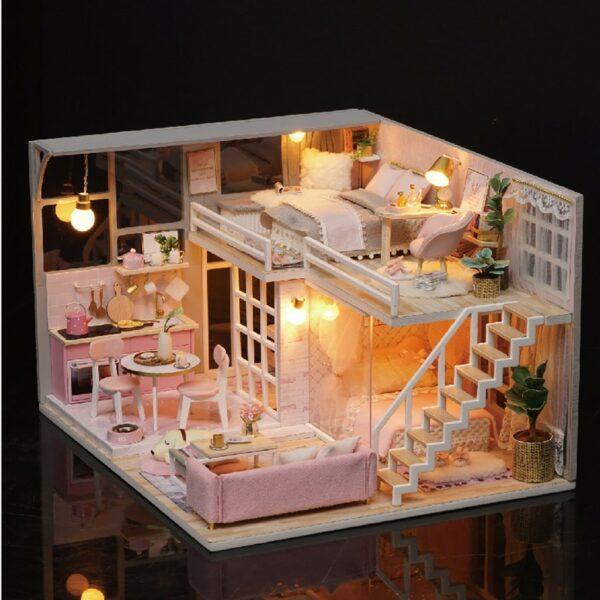 The Girlish Dream DIY Miniature Dollhouse Kit275c8f9069b1479f9b96d5c63809d0d69