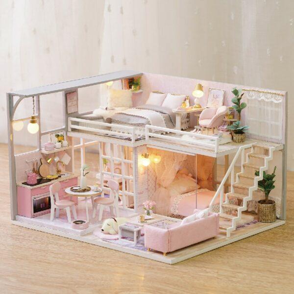 The Girlish Dream DIY Miniature Dollhouse Kitcbe2c7b2b4444687b51643bf99dea37aU 1