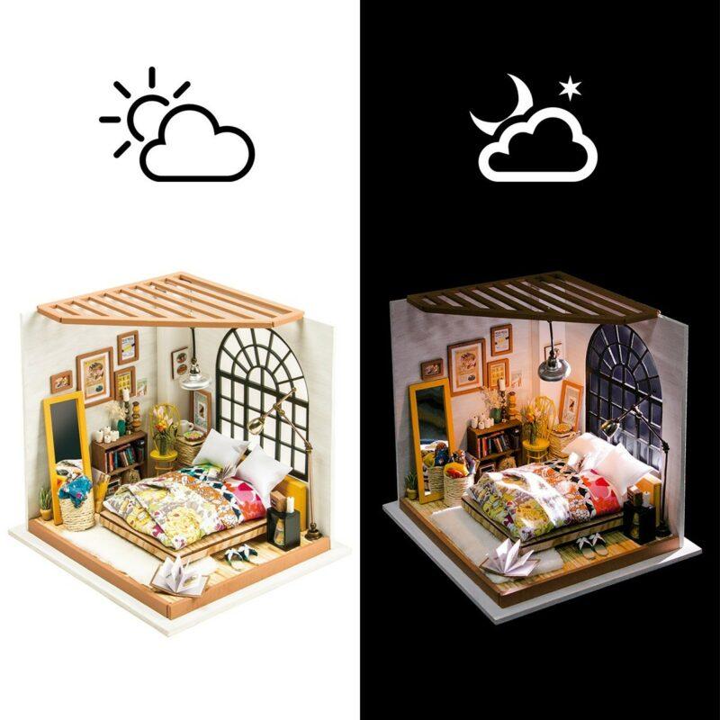alice s dreamy bedroom robotime diy miniature dollhouse kit 10