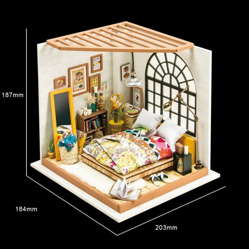 alice s dreamy bedroom robotime diy miniature dollhouse kit 3