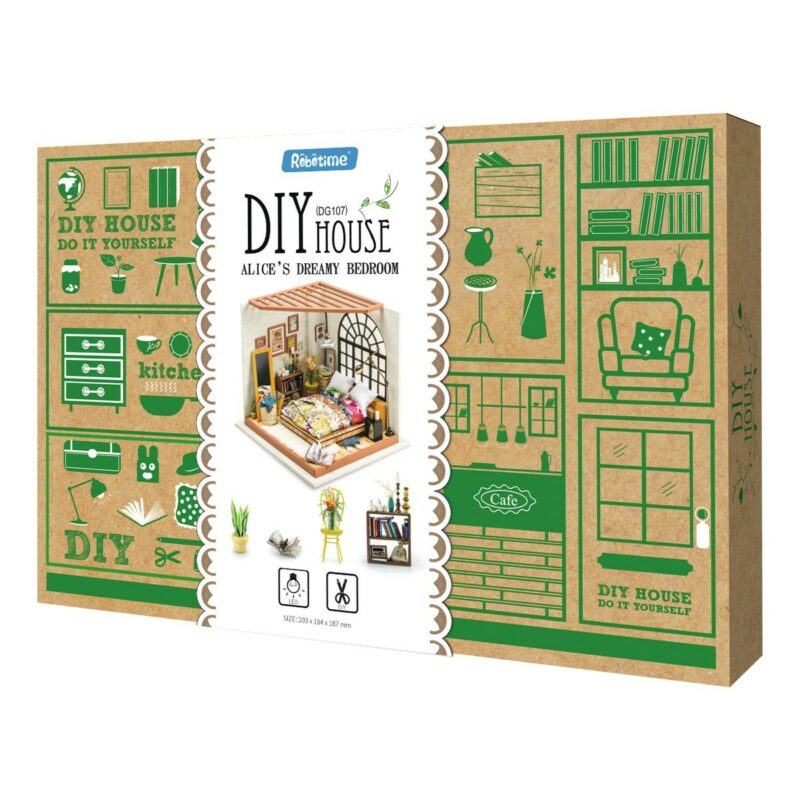 alice s dreamy bedroom robotime diy miniature dollhouse kit 6
