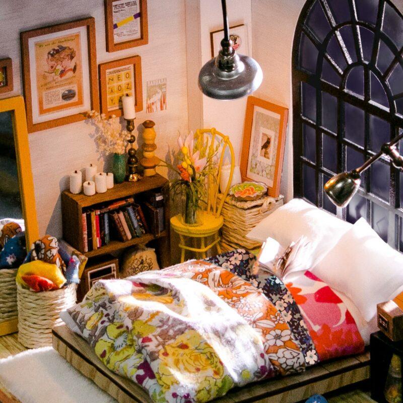 alice s dreamy bedroom robotime diy miniature dollhouse kit 8