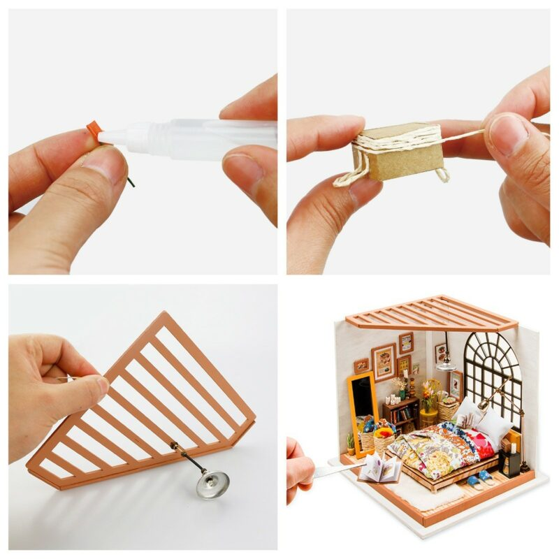 alice s dreamy bedroom robotime diy miniature dollhouse kit 9