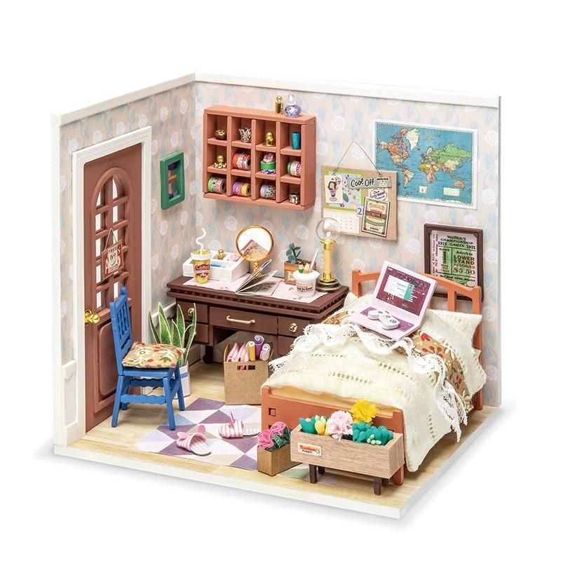 anne s bedroom robotime diy miniature dollhouse kit