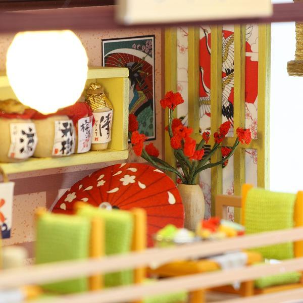 b2d8fb74cecc59b08240f66d6c6faf3fGibbon Sushi DIY Miniature Dollhouse Kit
