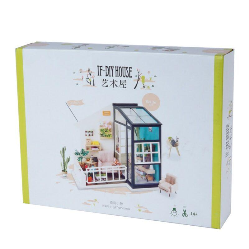 balcony daydreaming robotime diy miniature dollhouse kit 10