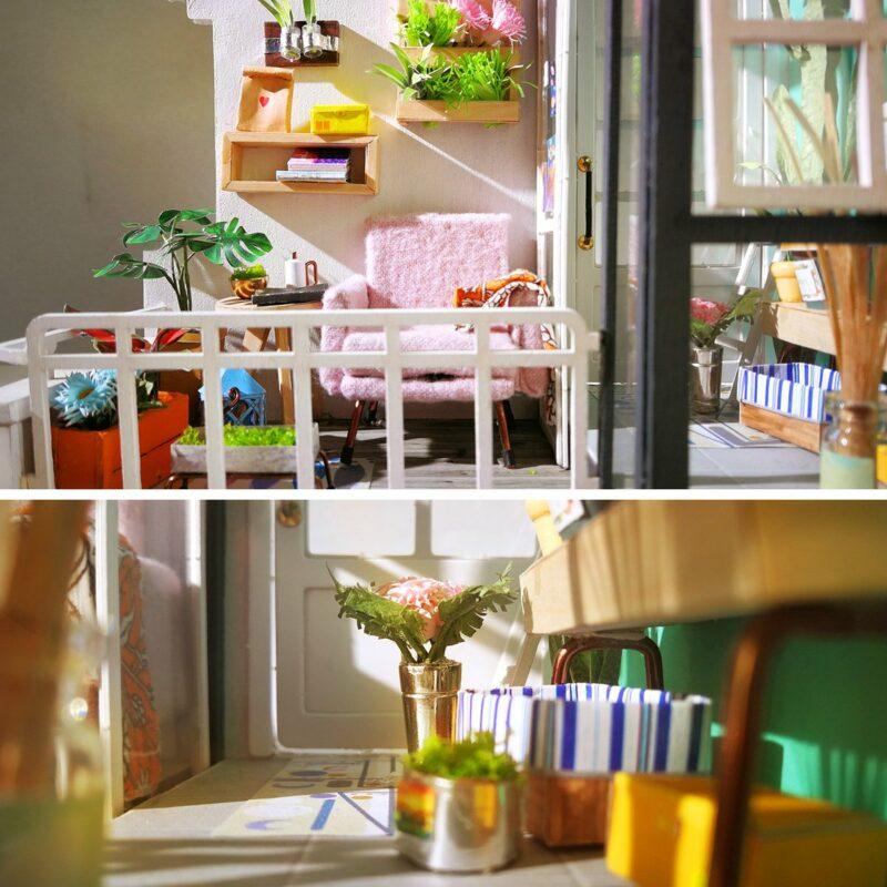 balcony daydreaming robotime diy miniature dollhouse kit 3