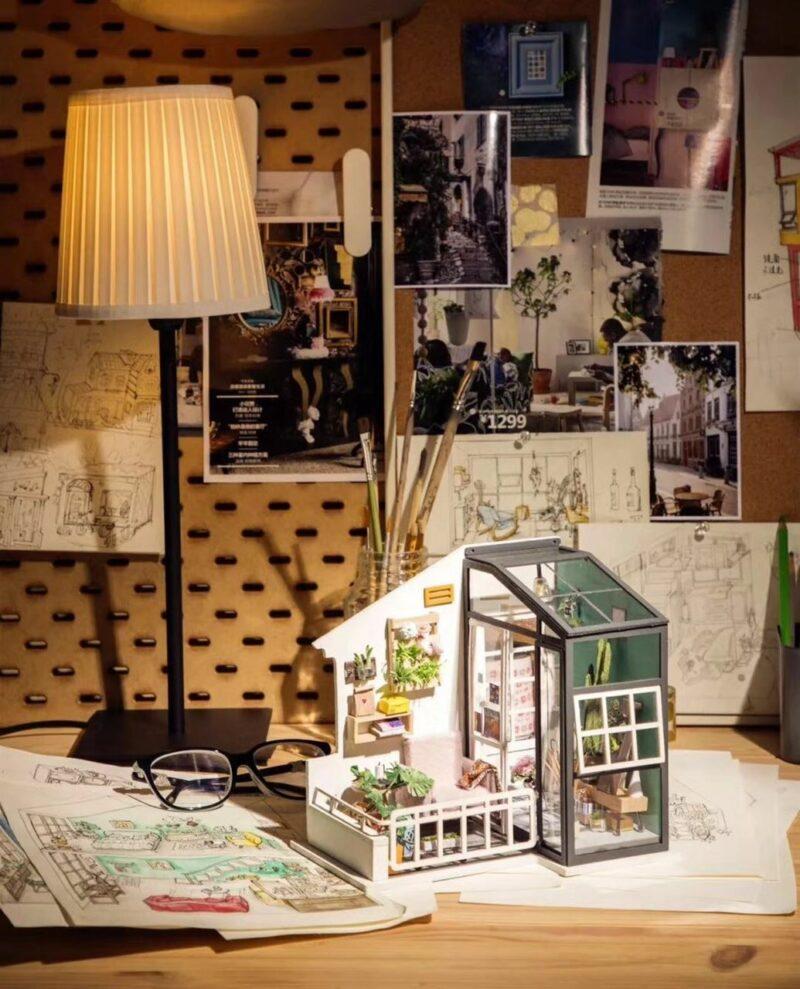 balcony daydreaming robotime diy miniature dollhouse kit