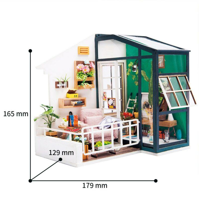 balcony daydreaming robotime diy miniature dollhouse kit 9