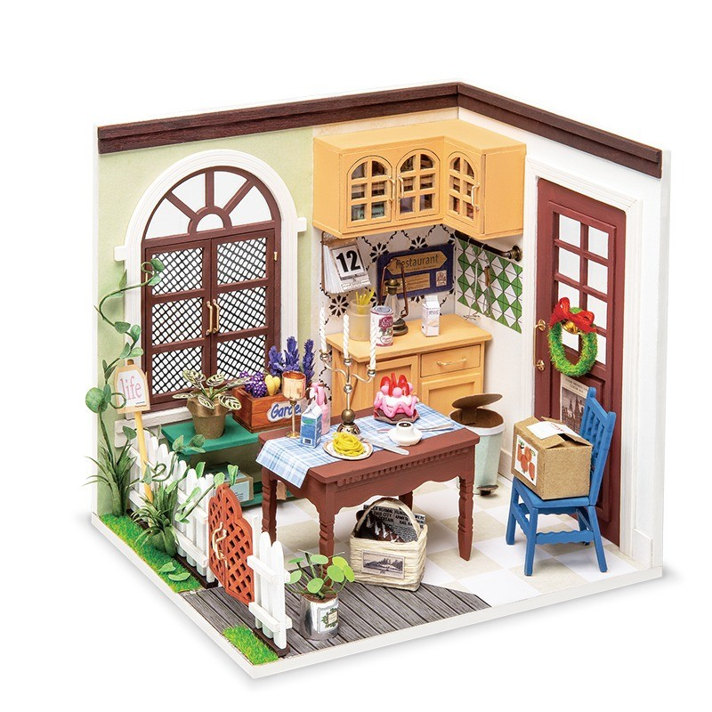 charlie s dining room robotime diy miniature dollhouse kit copy 2