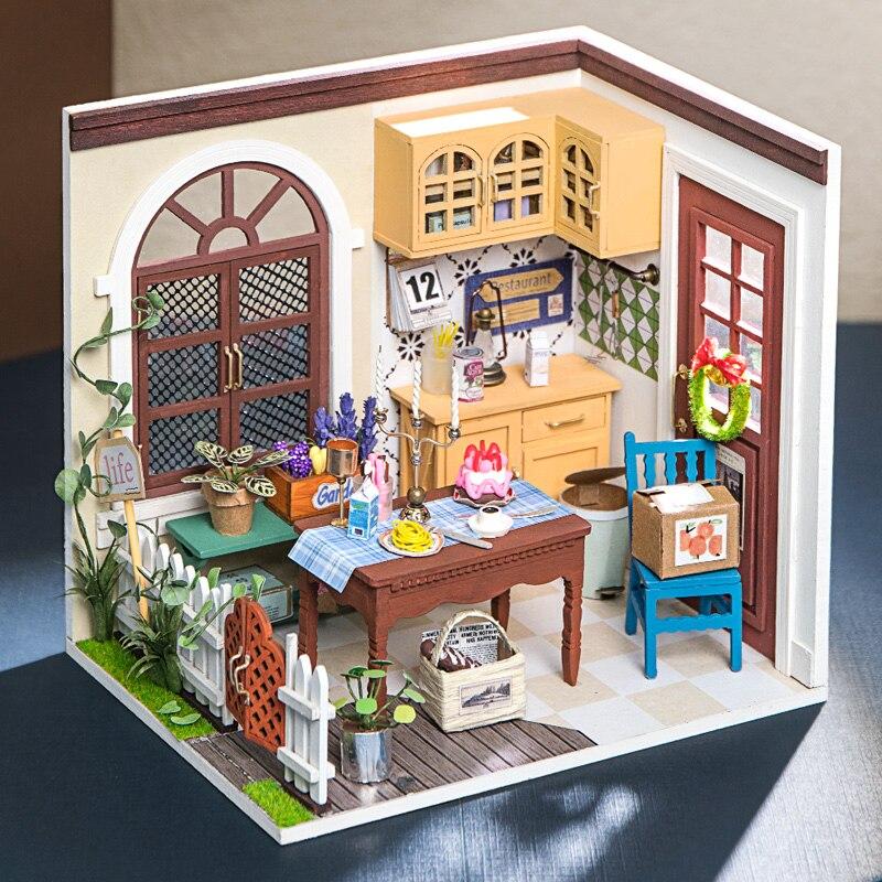 charlie s dining room robotime diy miniature dollhouse kit copy 3
