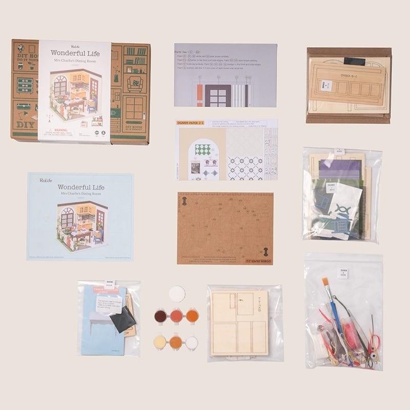 charlie s dining room robotime diy miniature dollhouse kit copy 5