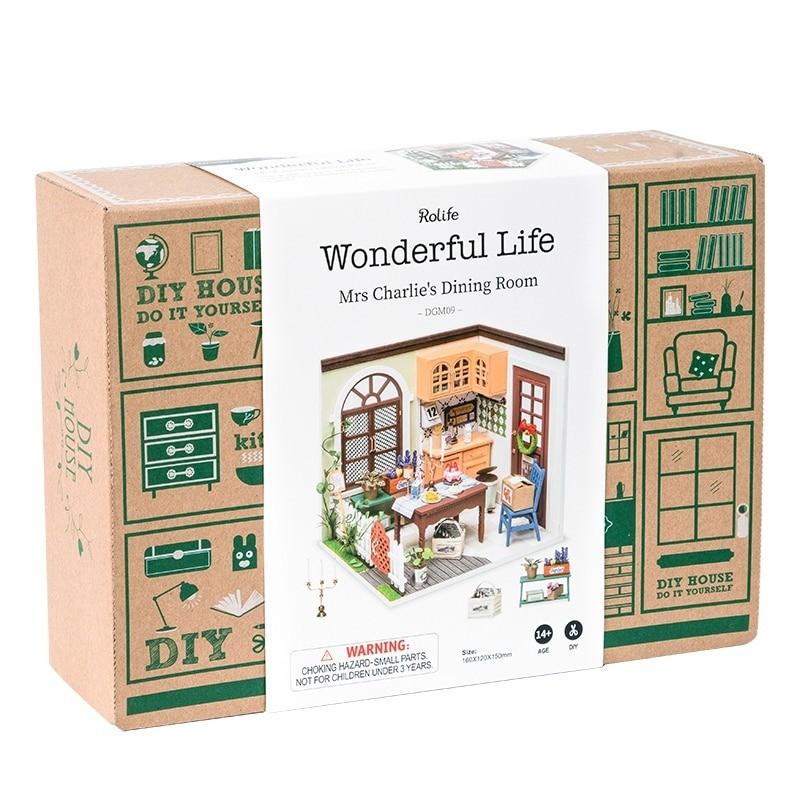 charlie s dining room robotime diy miniature dollhouse kit copy 6