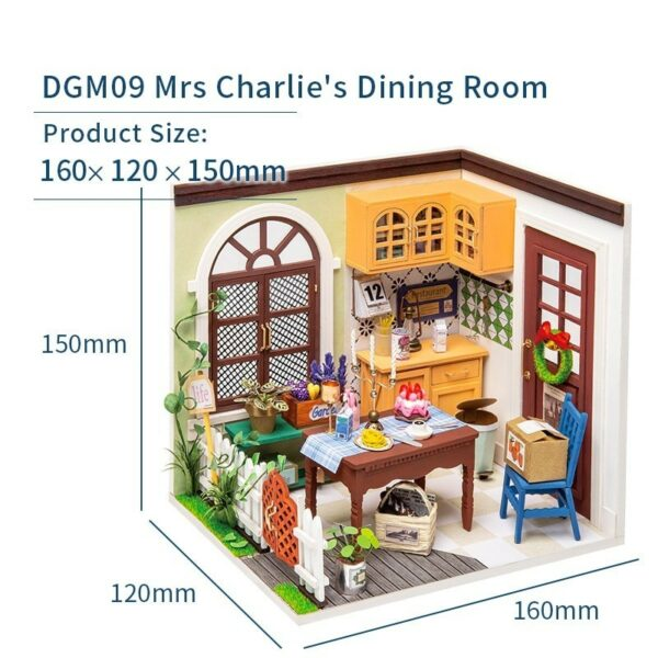 charlie s dining room robotime diy miniature dollhouse kit copy
