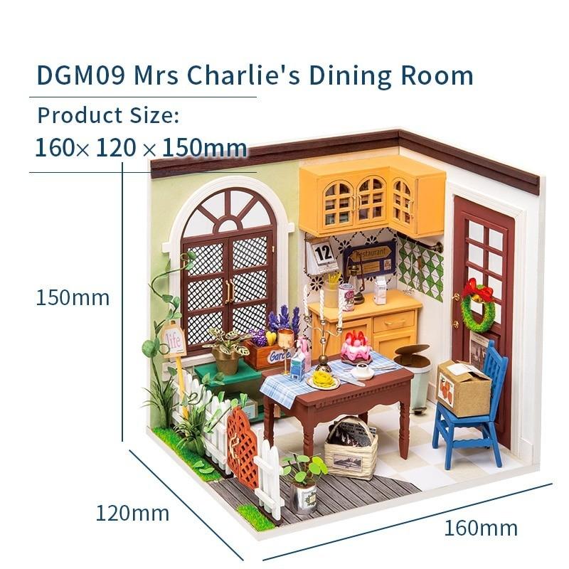 charlie s dining room robotime diy miniature dollhouse kit copy