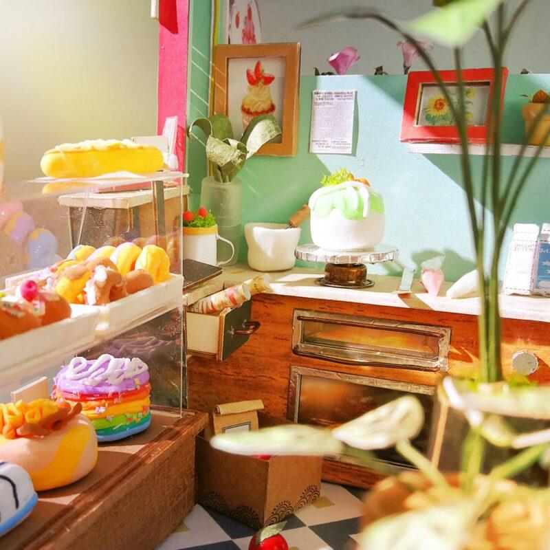 dessert shop robotime diy miniature dollhouse kit 10