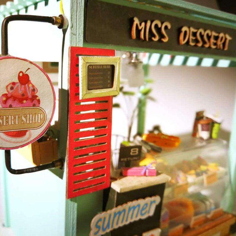 dessert shop robotime diy miniature dollhouse kit 2