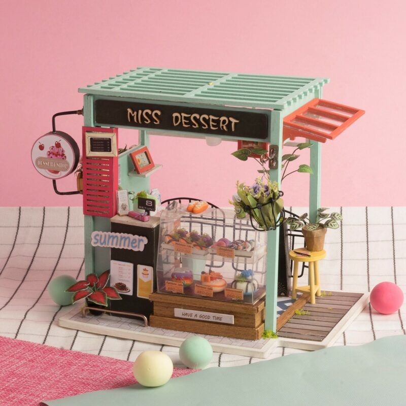 dessert shop robotime diy miniature dollhouse kit 6