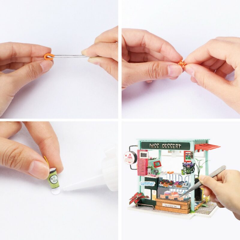 dessert shop robotime diy miniature dollhouse kit 7