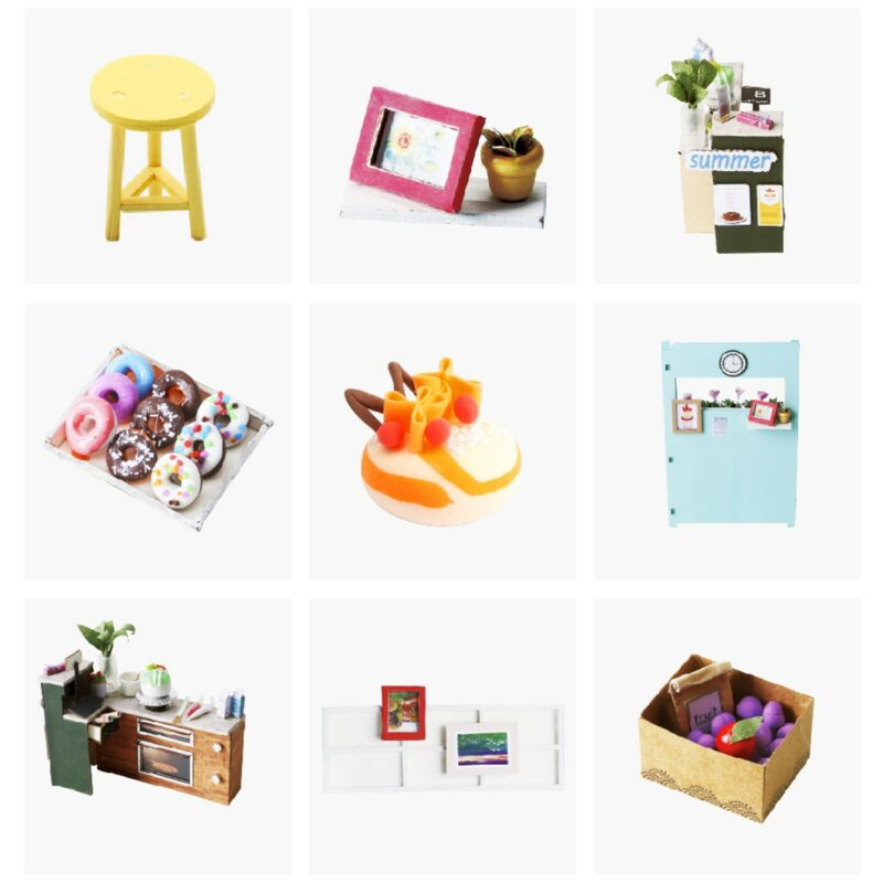 dessert shop robotime diy miniature dollhouse kit 8