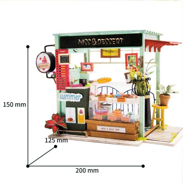dessert shop robotime diy miniature dollhouse kit 9