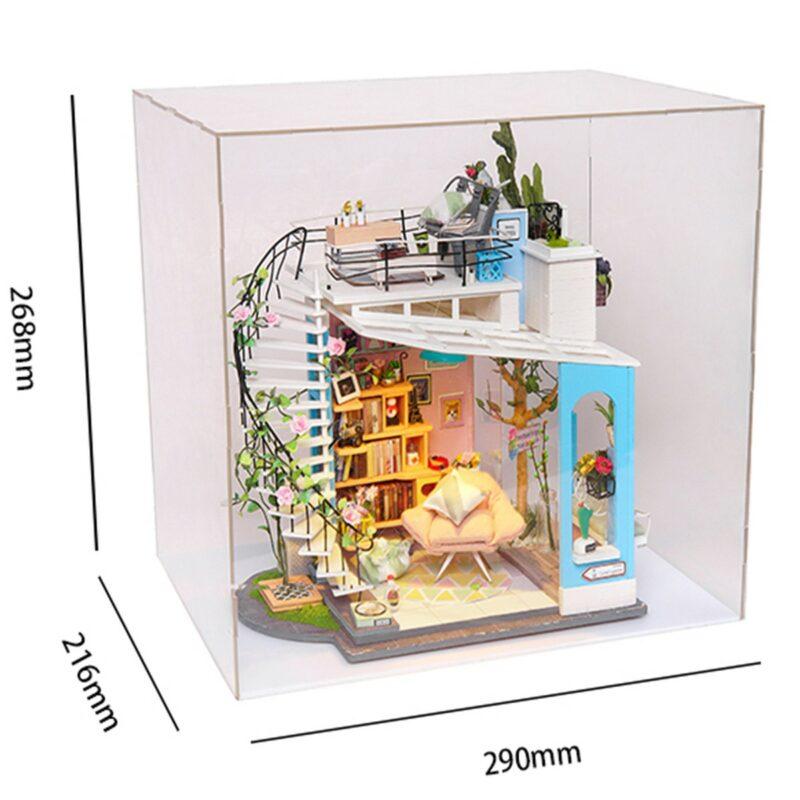 dora s loft robotime diy miniature dollhouse kit 11