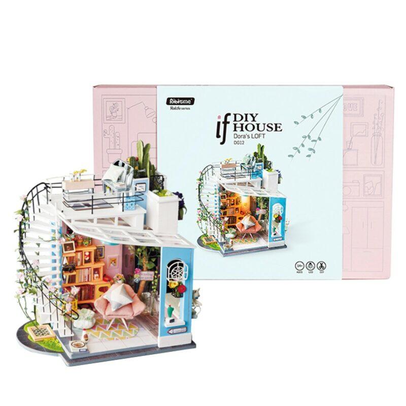 dora s loft robotime diy miniature dollhouse kit 13