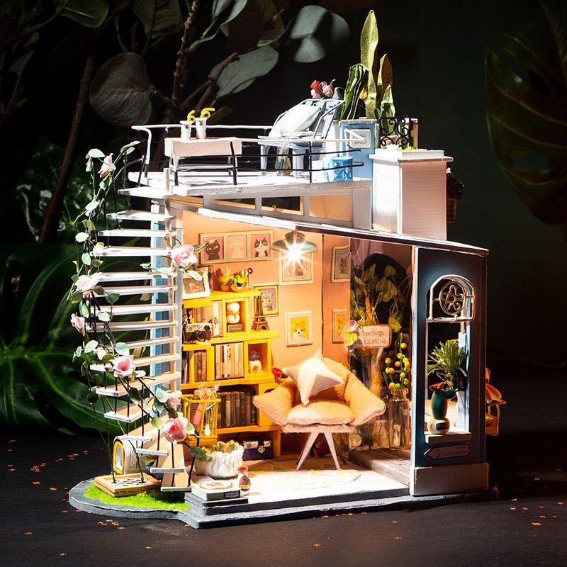dora s loft robotime diy miniature dollhouse kit 3