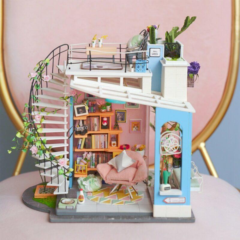 dora s loft robotime diy miniature dollhouse kit 8