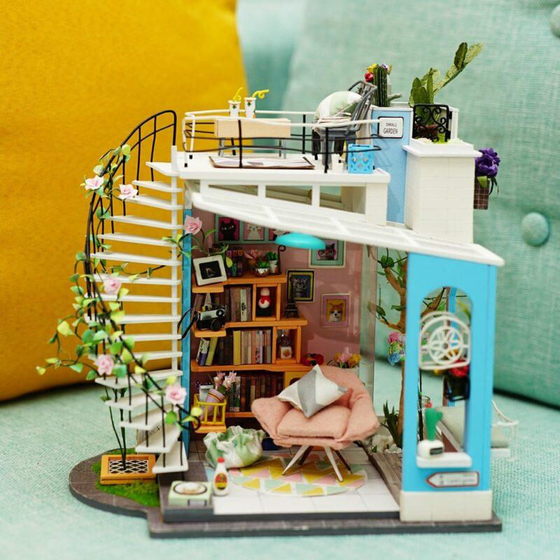 dora s loft robotime diy miniature dollhouse kit