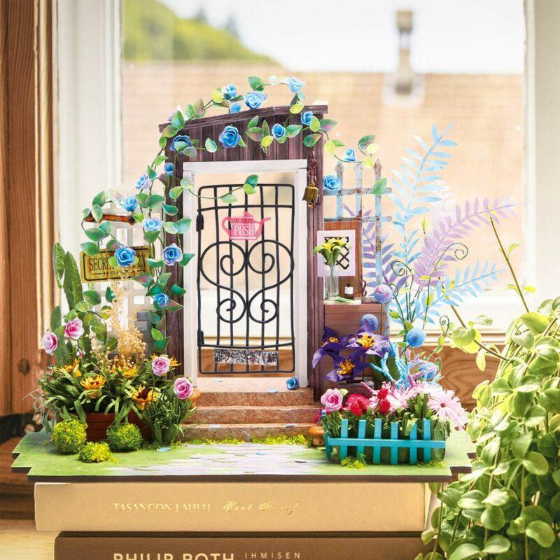 garden entrance robotime diy miniature dollhouse kit 4