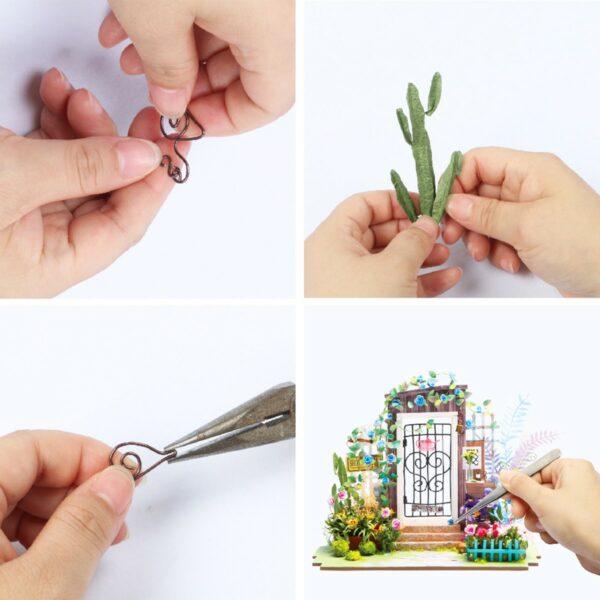 garden entrance robotime diy miniature dollhouse kit 6