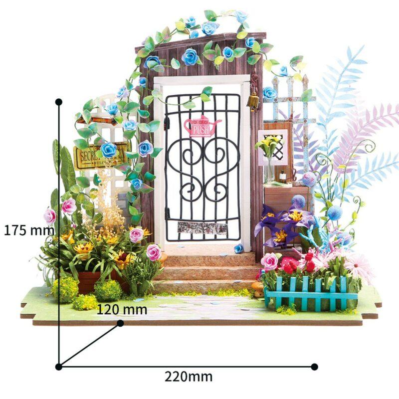 garden entrance robotime diy miniature dollhouse kit 7