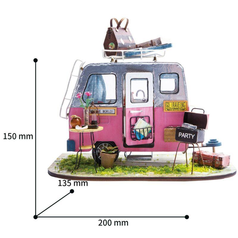 happy camper robotime diy miniature dollhouse kit 11