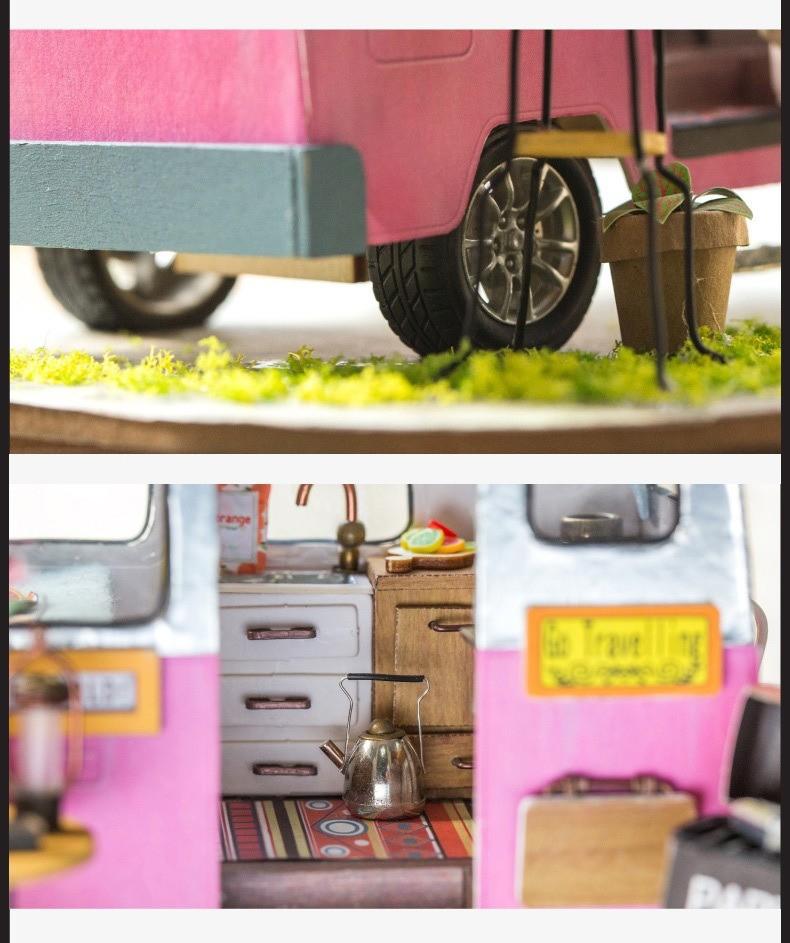 happy camper robotime diy miniature dollhouse kit 2