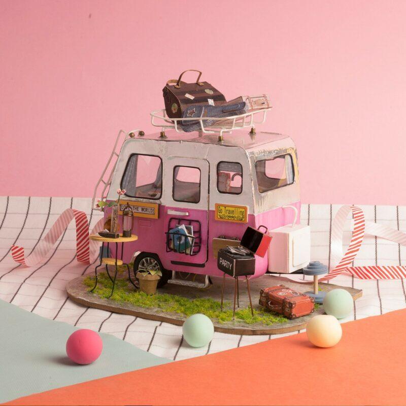 happy camper robotime diy miniature dollhouse kit 7