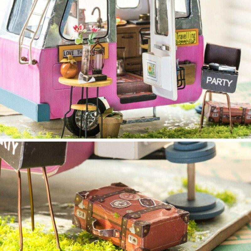 happy camper robotime diy miniature dollhouse kit